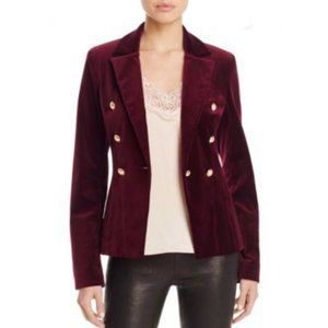 Aqua Capsule Womens One-Button Blazer Velvet